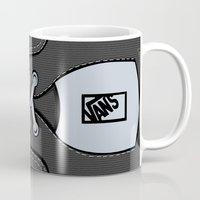 vans Mugs featuring Black Gray Vans shoes iPhone 4 4s 5 5s 5c, ipod, ipad, pillow case and tshirt by Three Second