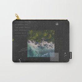 Abstract Dark illustration black white space universe Carry-All Pouch