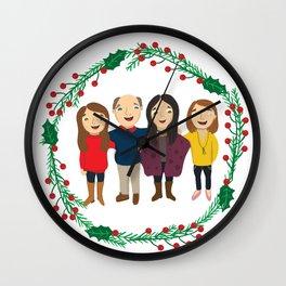 Custom Family Portait Wall Clock
