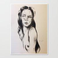 cassandra jean Canvas Prints featuring Cassandra  by Oriane Jouët