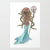 Mami Wata Medusa Art Print