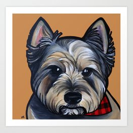 Rigoletto the cairn terrier Art Print