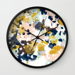Sloane - abstract painting gender neutral baby nursery dorm college decor Wall Clock