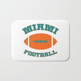 Miami Football Bath Mat