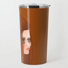 portrait of a 60s girl smoking Travel Mug