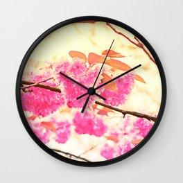 Pink Pushy Power Wall Clock