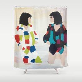 WONDER TWINS Shower Curtain