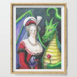 Marie Antoinette and the Dragon Serving Tray