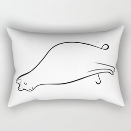 Linear Cat 01 Rectangular Pillow
