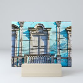 Blue House Mini Art Print