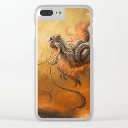 Morning Stroll Clear iPhone Case