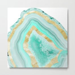 Agate Gold Foil Glam #2 #gem #decor #art #society6 Metal Print