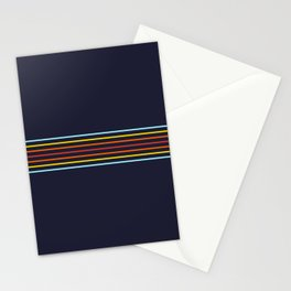 Classic Fine Retro Stripes Stationery Cards