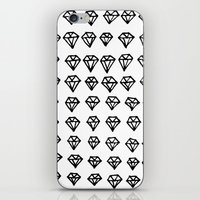 diamonds iPhone & iPod Skins featuring Diamonds by California Int. Skate