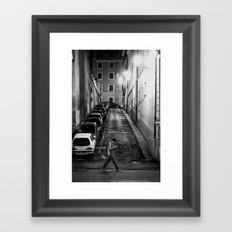 Night stroll Framed Art Print