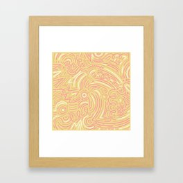 squiggle wiggles 007 Framed Art Print