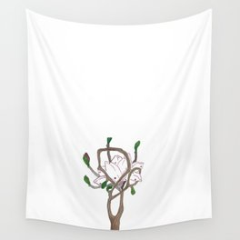 Flowing Magnolia Wall Tapestry