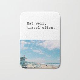 Eat well, travel often. Bath Mat