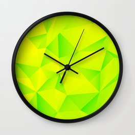Geometry Lime Extraction Wall Clock
