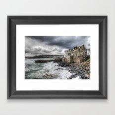 St. Ives. Crashing Waves. Framed Art Print