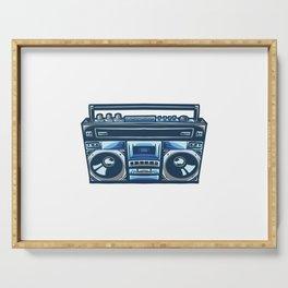 Old Radio Compo Illustration Design Serving Tray