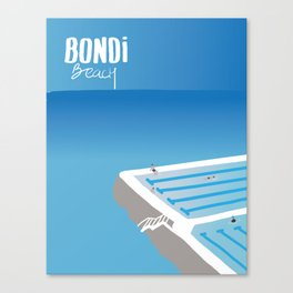 BONDI Iceberg - Australia  by Hellohellodie Canvas Print