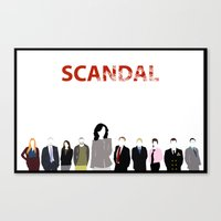 scandal Canvas Prints featuring Scandal Minimalism by Bel17