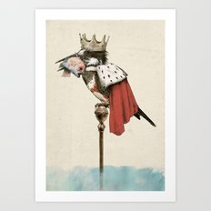 King Fisher Art Print
