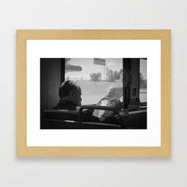 Old Man On The Bus Framed Art Print