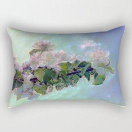 White flower on blue sky Rectangular Pillow