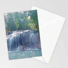 Turquoise Waterfall Stationery Cards