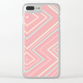 Pink, Green, Yellow, and Peach Lines - Illusion Clear iPhone Case