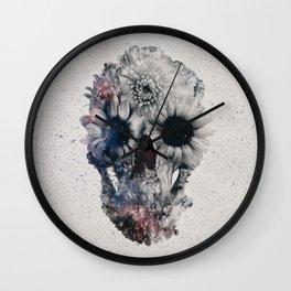 Floral Skull 2 Wall Clock