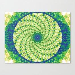 Greenspinwheel Canvas Print