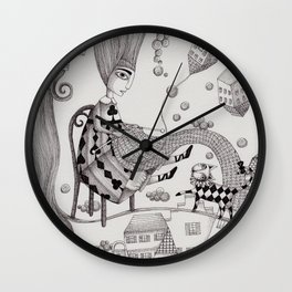 Falling Up Wall Clock