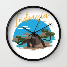 Indonesia Komodo Wall Clock