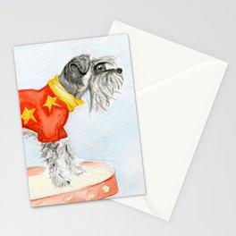 Starry Scruffy Schnauzer Stationery Cards