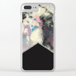Marbled Solid Silver Clear iPhone Case