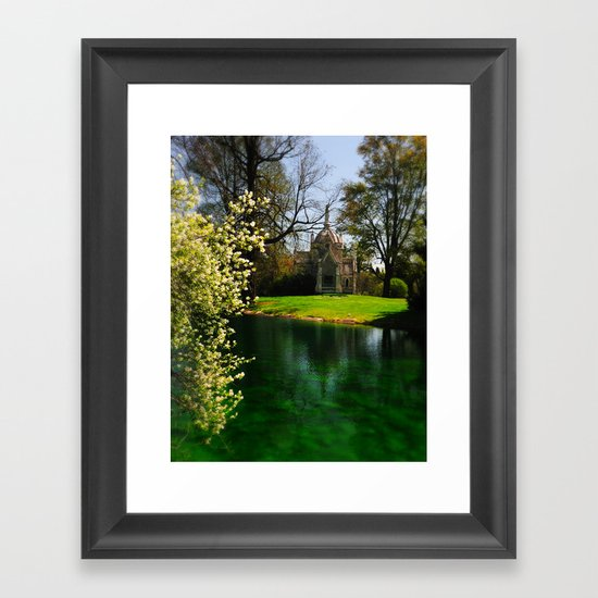Chapel by the lake Framed Art Print