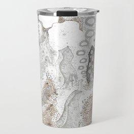 """Gray"" illustration Travel Mug"