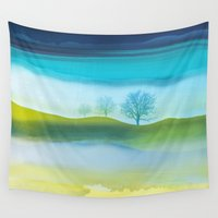 rain Wall Tapestries featuring Rain by SpaceFrogDesigns