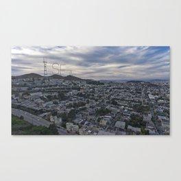 San Francisco - Sutro Tower Chill Canvas Print