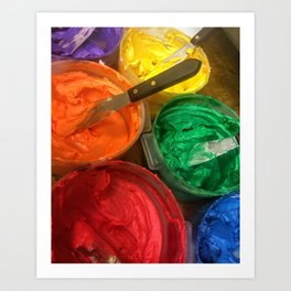 Rainbow Frosting Art Print