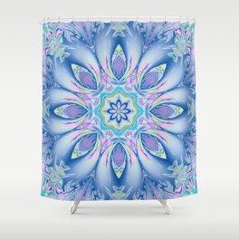 Soft blue fantasy flower Shower Curtain