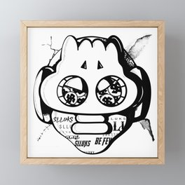 Dope Slluks masked head illustration Framed Mini Art Print