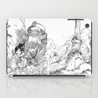 bouletcorp iPad Cases featuring Promenade dans la montagne - Walking in the mountains by Bouletcorp