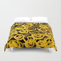 pasta Duvet Covers featuring pasta by clemm