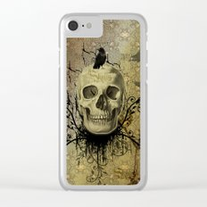 Skull and crow Clear iPhone Case