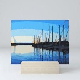 Italian Village Sunset Mini Art Print