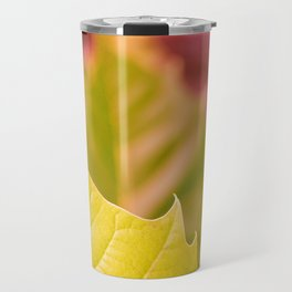 Golden Olive Sycamore Leaf Travel Mug